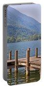 idyllic tarn in Italy Portable Battery Charger by Joana Kruse