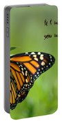 If I Were A Butterfly Portable Battery Charger by Bill Cannon