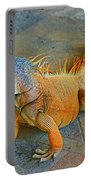Iguana At The Restaurant  Portable Battery Charger