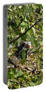 Iguana Hiding In The Bushes Portable Battery Charger