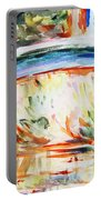 Impressions On Monet Painting Of Pond With Waterlilies  Portable Battery Charger