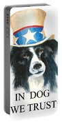 In Dog We Trust Greeting Card Portable Battery Charger