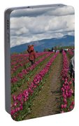 In The Tulip Fields Portable Battery Charger
