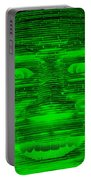 In Your Face In Negative Green Portable Battery Charger