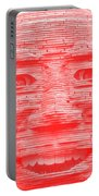 In Your Face In Negative Light Red Portable Battery Charger