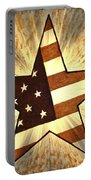 Independence Day Stary American Flag Portable Battery Charger
