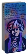 Indigenous Motto...blue Portable Battery Charger