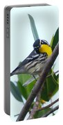Inquisitive Yellow Throated Warbler Portable Battery Charger