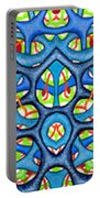 Interconnection In Blue Design Portable Battery Charger