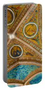 Interior St Francis Basilica Assisi Italy Portable Battery Charger by Jon Berghoff
