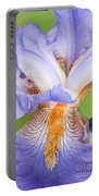 Iris Close Up Blue And Gold Portable Battery Charger