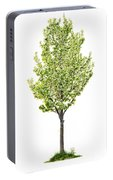 Isolated Flowering Pear Tree Portable Battery Charger