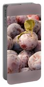 Italian Plums At Market Portable Battery Charger