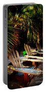 Its Margarita Time In Paradise Portable Battery Charger by Susanne Van Hulst