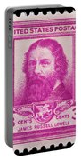 James Russell Lowell Postage Stamp Portable Battery Charger