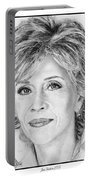 Jane Fonda In 2005 Portable Battery Charger by J McCombie
