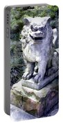 Japanese Garden Lion Dog Statue 1 Portable Battery Charger