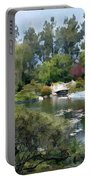 Japanese Garden Panorama 1 Portable Battery Charger