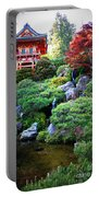 Japanese Garden With Pagoda And Pond Portable Battery Charger