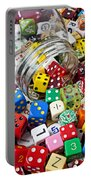 Jar Spilling Dice Portable Battery Charger by Garry Gay