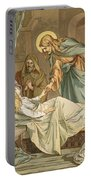 Jesus Raising Jairus's Daughter Portable Battery Charger