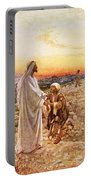 Jesus Withe The One Leper Who Returned To Give Thanks Portable Battery Charger