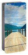 Jetty Of A Beautiful Lake  Portable Battery Charger