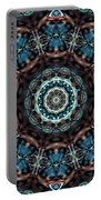 Jeweled Turquoise Portable Battery Charger