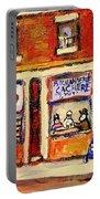 Jewish Montreal Vintage City Scenes Hutchison Street Butcher Shop  Portable Battery Charger