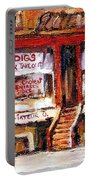 Jewish Montreal Vintage City Scenes Indigs Kosher Butcher Portable Battery Charger