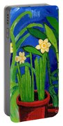 Jonquils And Bamboo Plant Portable Battery Charger