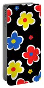 Junior Florals Portable Battery Charger by Louisa Knight