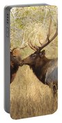 Junior Meets Bull Elk Portable Battery Charger