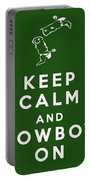 Keep Calm And Cowboy On Portable Battery Charger