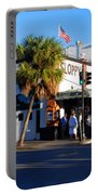 Key West Bar Sloppy Joes Portable Battery Charger by Susanne Van Hulst