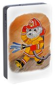 Kids Art Firedog Firefighter  Portable Battery Charger