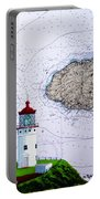 Kilauea Point Lighthouse On Noaa Chart Portable Battery Charger