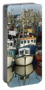 Kilkeel, Co Down, Ireland Rows Of Boats Portable Battery Charger