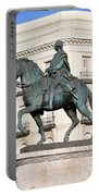 King Charles IIi Statue In Madrid Portable Battery Charger