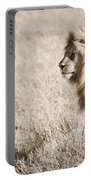 King Of Cats In Sepia Portable Battery Charger