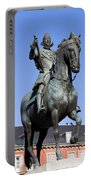 King Philip IIi Statue In Madrid Portable Battery Charger