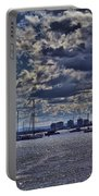 Kite Surfing At St Kilda Beach Portable Battery Charger by Douglas Barnard