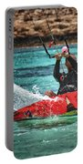 Kitesurfer Portable Battery Charger by Stelios Kleanthous