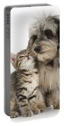 Kitten And Daxie-doodle Puppy Portable Battery Charger