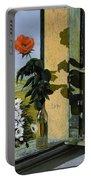 La Rosa Alla Finestra Portable Battery Charger by Guido Borelli