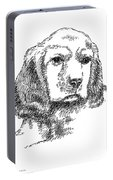 Labrador-portrait-drawing Portable Battery Charger