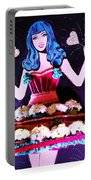 Lady In Flowers Portable Battery Charger