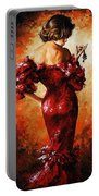 Lady In Red 33 Portable Battery Charger