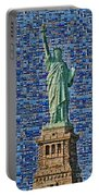 Lady Liberty Mosaic Portable Battery Charger