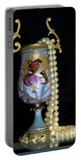 Lady Vase And Pearls Portable Battery Charger